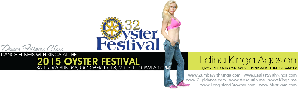 Dance Fitness with Kinga Zumba and LaBlast at the 2015 Oyster Festival in Oyster Bay Nassau COunty Long Island New York