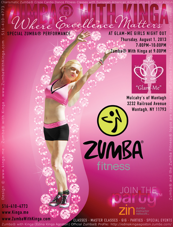 Hamptons Zumba Dancer KINGA at Long Island Networking Moms Glam-Me Girls Night Out