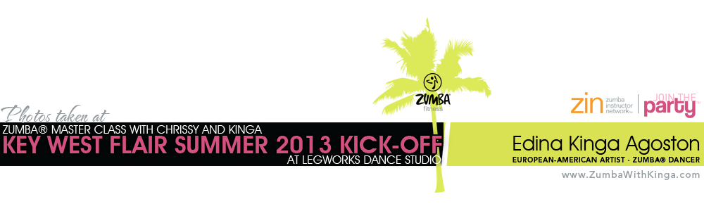Key West Flair Summer Kickoff Zumba Master Class with Long Island's Hot Zumba Dancers Chrissy and Kinga at Legworks Dance Studio in Mastic, Long Island, New York
