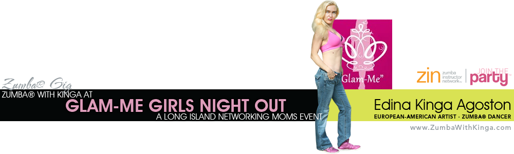 Hamptons Zumba Dancer KINGA at Long Island Networking Moms Glam-Me Girls Night Out at Mulcahy's of Wantagh on Long Island, New York