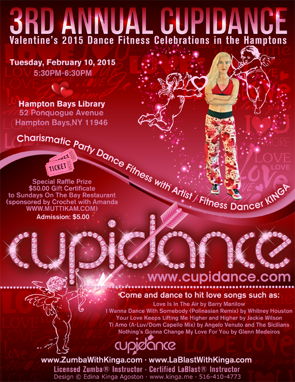 3rd Annual Cupidance Valentine's 2015 Dance Fitness in the Hamptons