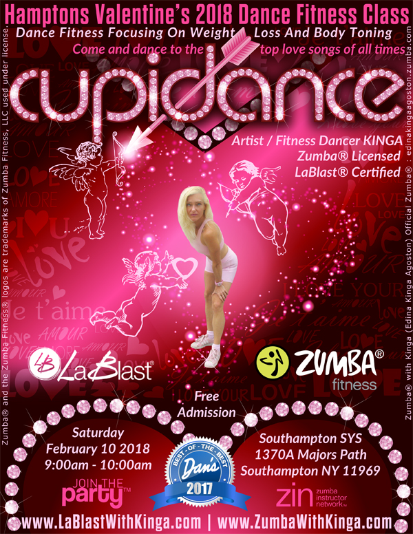 Cupidance Valentine's 2018 Dance Fitness in the Hamptons