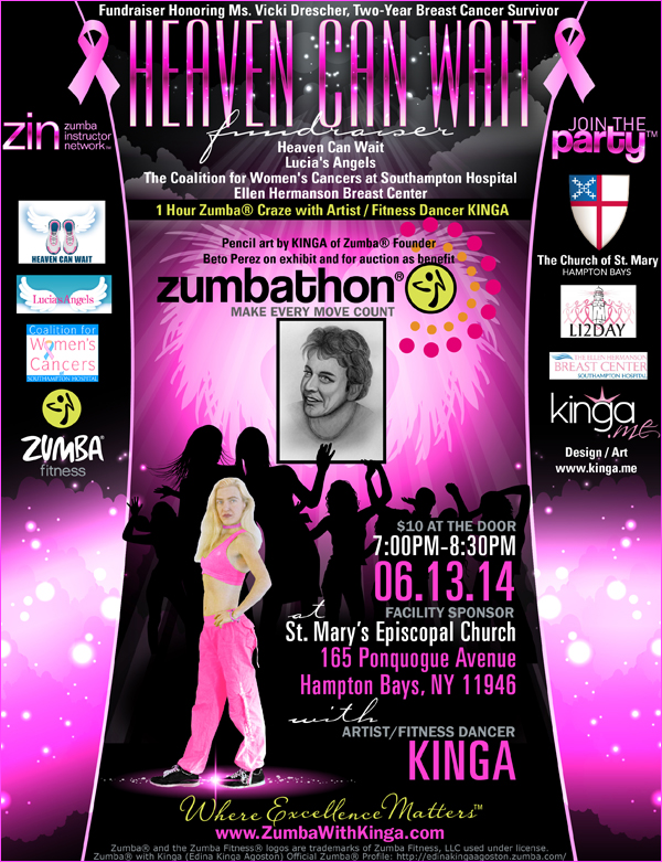 Heaven Can Wait Zumbathon Charity Benefit Fundraiser for Breast Cancer Support Groups in the Hamptons Long Island New York